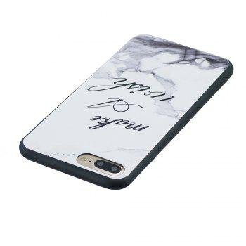 Case For Iphone8 Painted Cover TPU Phone Protection Shell - WHITE