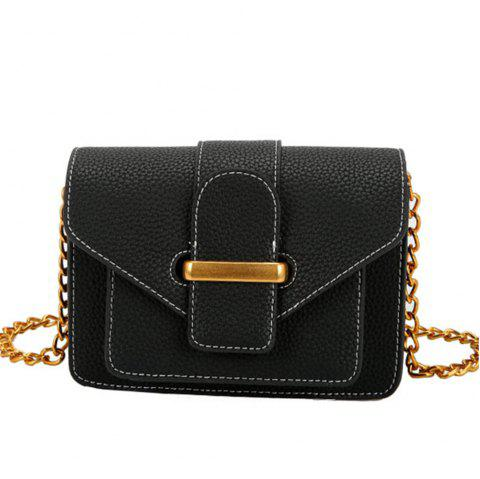Simple and Wild Small Square Bag Multi-Layer Shoulder Casual Fashion Messenger Bag - BLACK
