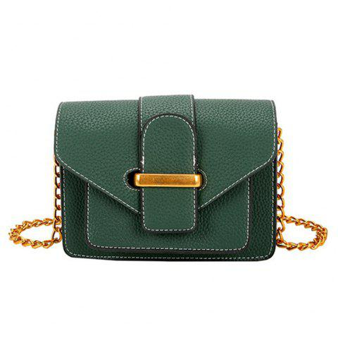 Simple and Wild Small Square Bag Multi-Layer Shoulder Casual Fashion Messenger Bag - GREEN