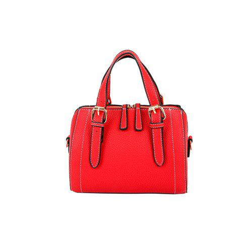 Small Simple Car Suture Pillow Messenger Hand Shoulder Bag - RED