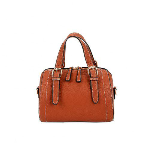 Small Simple Car Suture Pillow Messenger Hand Shoulder Bag - BROWN