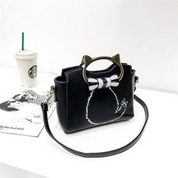 Female Joker Portable Personality Fashion Messenger Shoulder Bag - BLACK