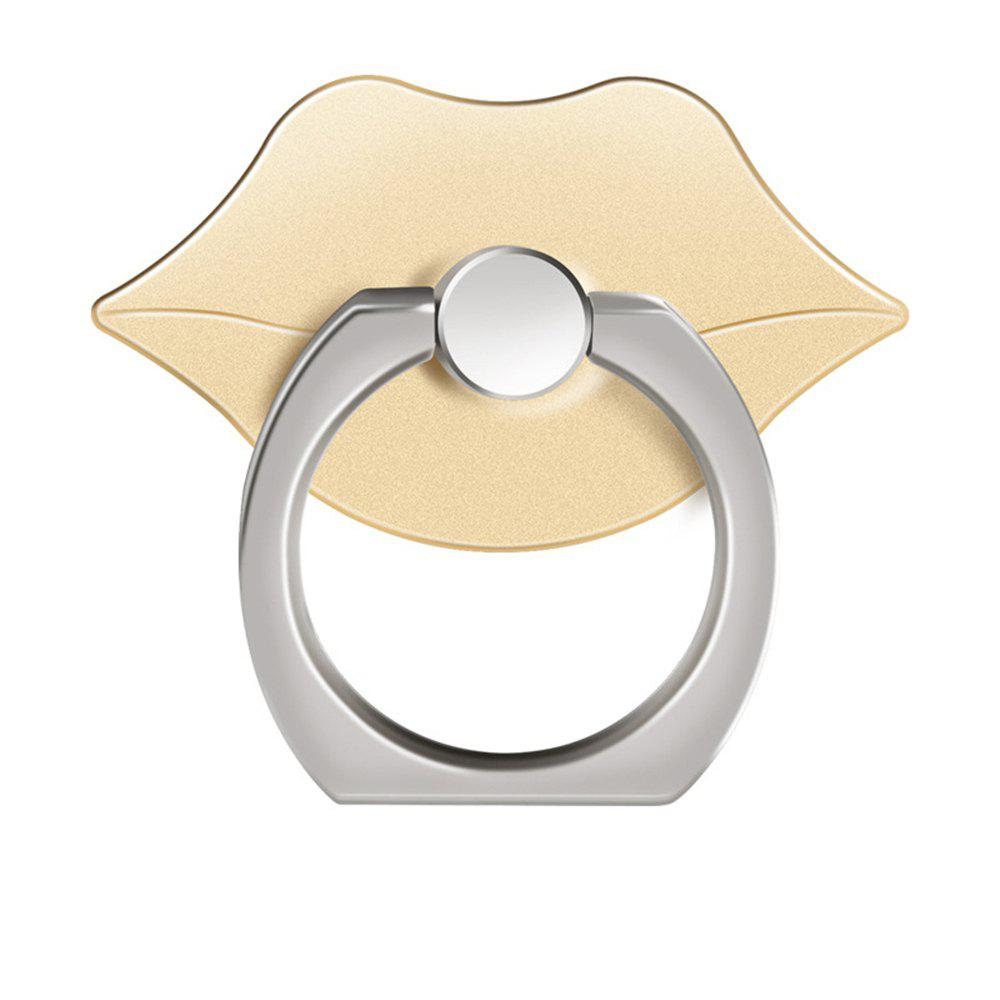 360 Degree Rotating Cute Lip Cell Phone Finger Ring Holder Stand - GOLDEN