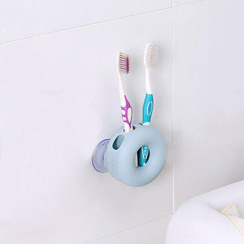 1Pc Creative Double Suction Cup Toothbrush Frame - BLUE BLUE