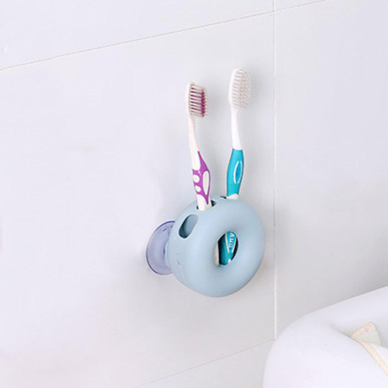 1Pc Creative Double Suction Cup Toothbrush Frame - BLUE 8.5X4.3CM