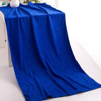 1 Pc Bath Towel Simple Solid Cozy Soft Bath Towel - BLUE BLUE