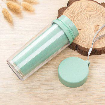 Hot Sale Double Wall Wheat Straw Readily Cup 301-400ML Coffee Thermal Bottle - BLUE BLUE
