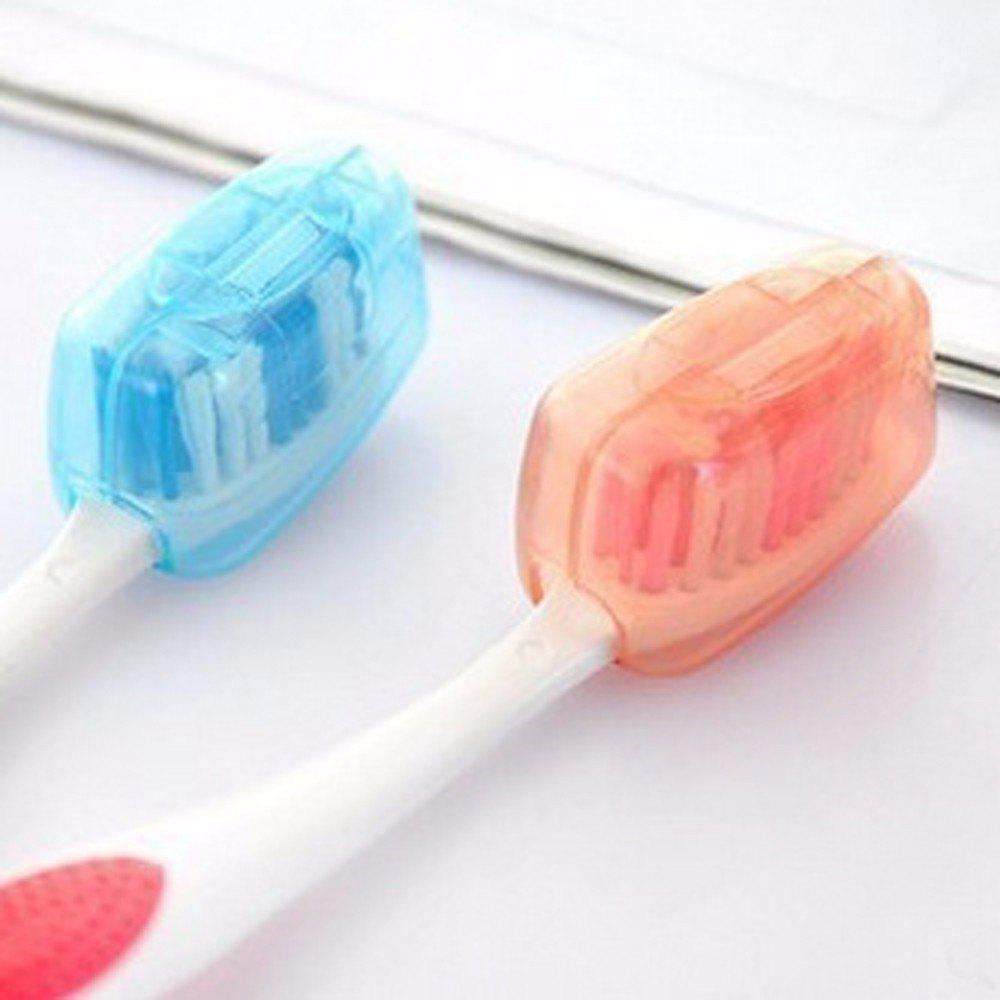 Hot Bathroom Accessories Portable Travel Toothbrush Cover Wash Brush Cap Case Box - multicolor