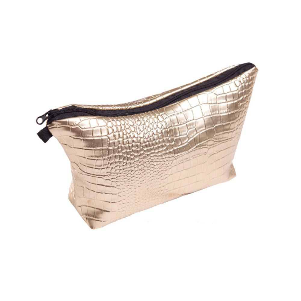 Leather Storage Waterproof Cosmetic Bag - GOLDEN