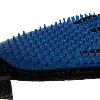Pet Cleaning Care Massage Gloves - BLUE