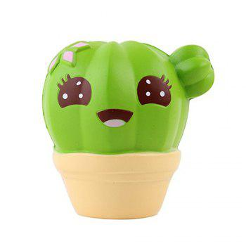 Funny Squishies Cactus Slow Rising Toys Rainbow Jumbo Cream Scented Time Killer Squeeze Kid Toy Charm Gift - GREEN