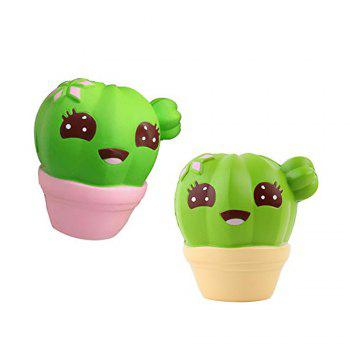 Funny Squishies Cactus Slow Rising Toys Rainbow Jumbo Cream Scented Time Killer Squeeze Kid Toy Charm Gift - PINK
