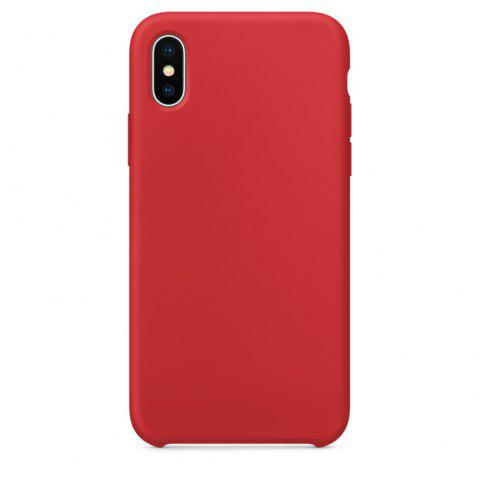 Soft Silicone Protective Case for iPhone X - RED