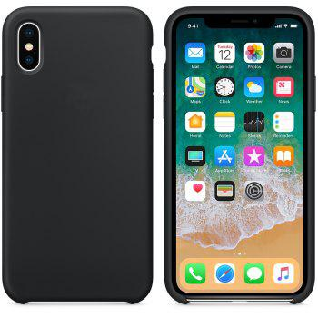 Soft Silicone Protective Case for iPhone X - BLACK