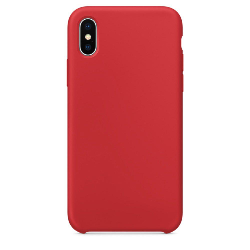 Étui de protection en silicone souple pour iPhone X - Rouge