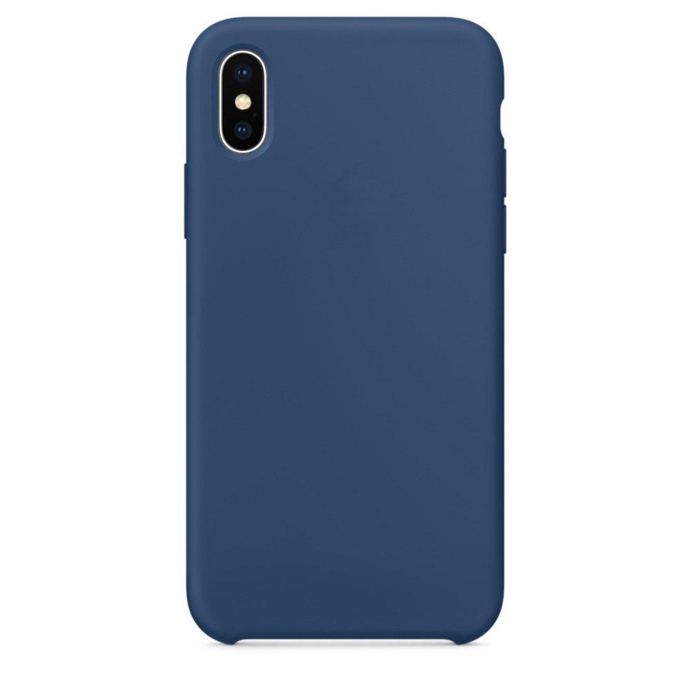 Soft Silicone Protective Case for iPhone X - BLUE COBALT