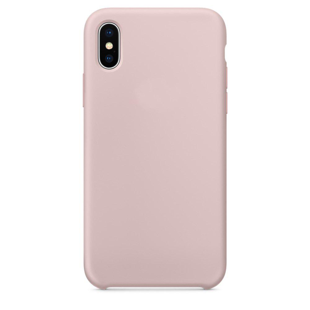 Soft Silicone Protective Case for iPhone X - PINK SANDS