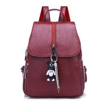 Backpack Female Korean PU Leather Casual Fashion