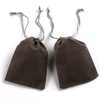 Soft Velvet Pouches W Drawstrings for Jewelry Gift Packaging 100PCS - GRAY SIZE S