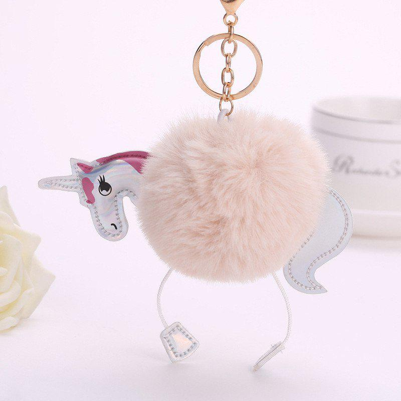 Horse Shape Plush Keychain Fashion Bag Pendant - COLORMIX