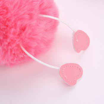 Flamingo Shape Plush Keychain Fashion Bag Pendant - PINK
