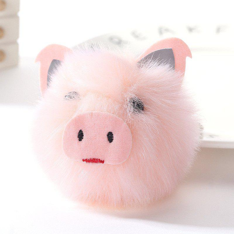 Cute Pig Shape Plush Keychain Fashion Bag Pendant - PINK