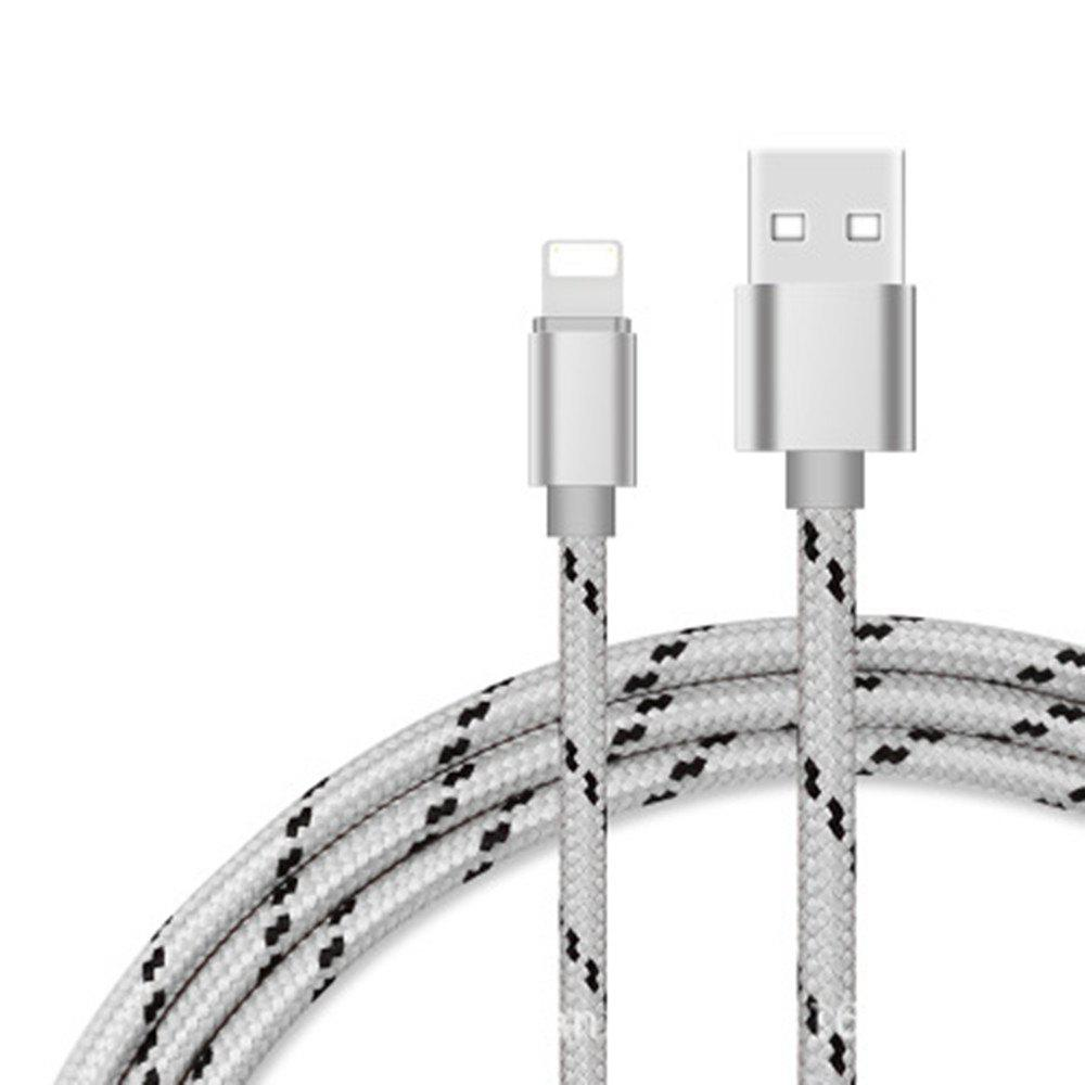 For iPhone Cable to USB Cable Gold Cord -Sync for iOS iPhone Charging Charger Cable For iPhone 7/SE/6s/6/ 5 - GRAY