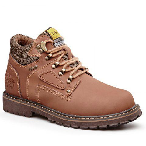Outdoor Stylish Comfortable Durable Leather Jobon Boots - LIGHT BROWN 39