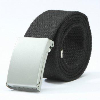 Candy Fashion New Unisex Mens Belt Belt Canvas Belt - BLACK