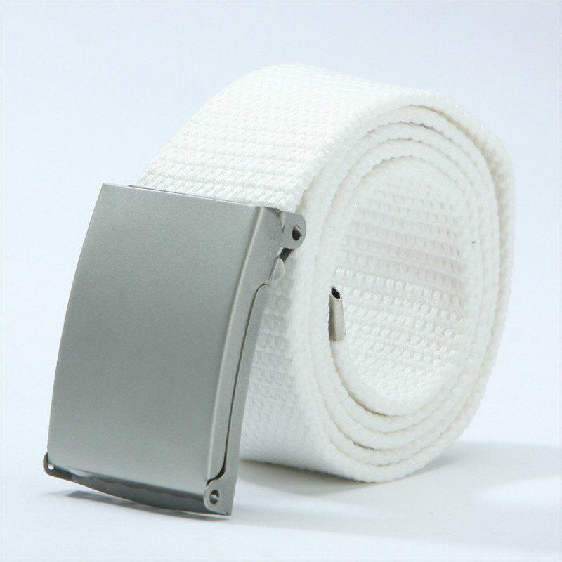 Candy Fashion New Unisex Mens Belt Belt Canvas Belt - WHITE