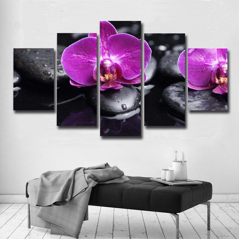 Art Posters And Prints Frames Canvas Flower 5 Pieces - COLOUR 30 X 40CM 2PCS +30 X 60CM 2PCS + 30 X 80CM 1PC