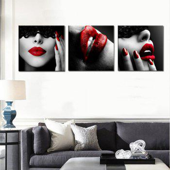 Abstract Girl Home Decoration Canvas Painting 3 Pcs - COLOUR COLOUR