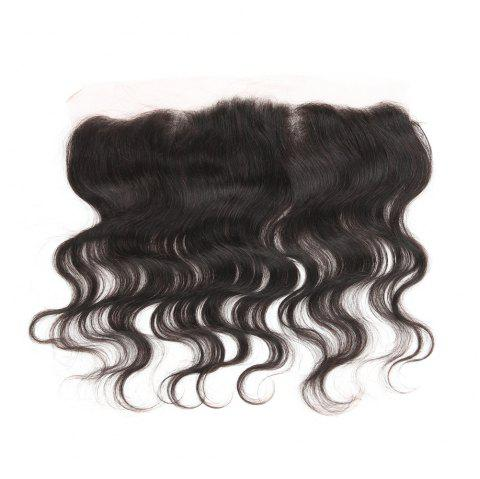 Rebecca Brazilian Remy Hair Lace Frontal Closure Nature Body Wave 13 x 4 Closure - BLACK 14INCH