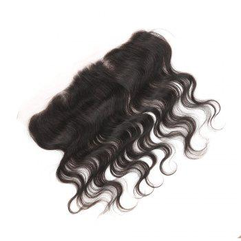 Rebecca Brazilian Remy Hair Lace Frontal Closure Nature Body Wave 13 x 4 Closure - BLACK 8INCH