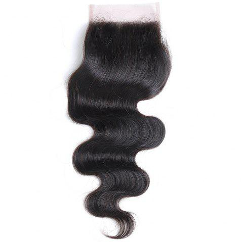 Rebecca Brazilian Remy Hair Lace Frontal Closure Nature Body Wave 4 x 4 Closure RC0877 - NATURAL BLACK 14INCH