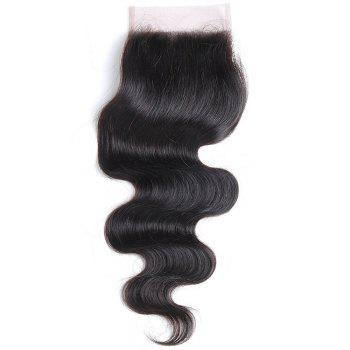 Rebecca Brazilian Remy Hair Lace Frontal Closure Nature Body Wave 4 x 4 Closure RC0877 - NATURAL BLACK NATURAL BLACK