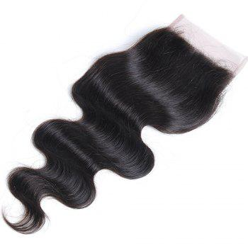 Rebecca Brazilian Remy Hair Lace Frontal Closure Nature Body Wave 4 x 4 Closure RC0877 - NATURAL BLACK 10INCH