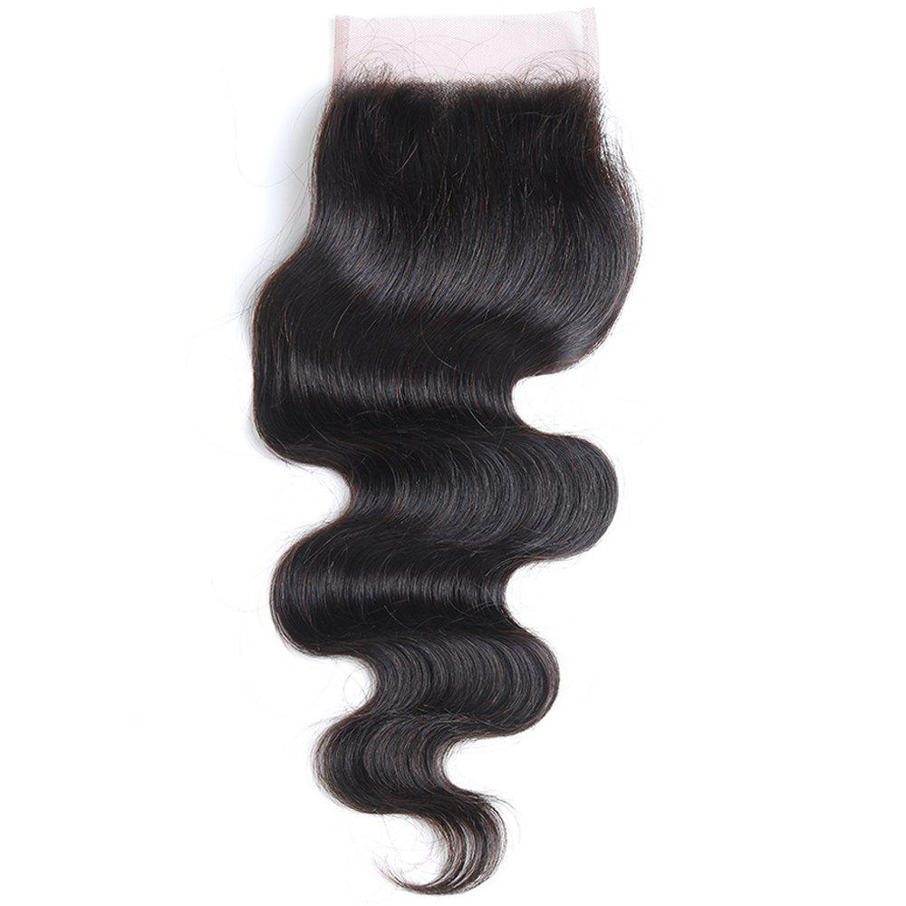 Rebecca Brazilian Remy Hair Lace Frontal Closure Nature Body Wave 4 x 4 Closure RC0877 - NATURAL BLACK 18INCH