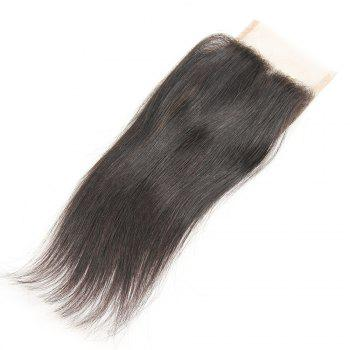 Rebecca Brazilian Remy Hair Lace Frontal Closure Nature Straight 4 x 4 Closure RC0875 - NATURAL BLACK 12INCH