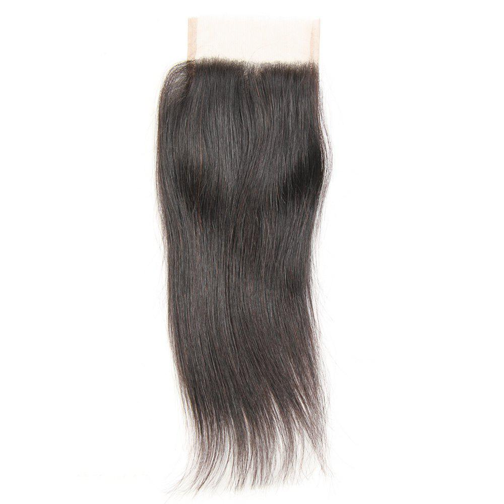 Rebecca Brazilian Remy Hair Lace Frontal Closure Nature Straight 4 x 4 Closure RC0875 - NATURAL BLACK 10INCH
