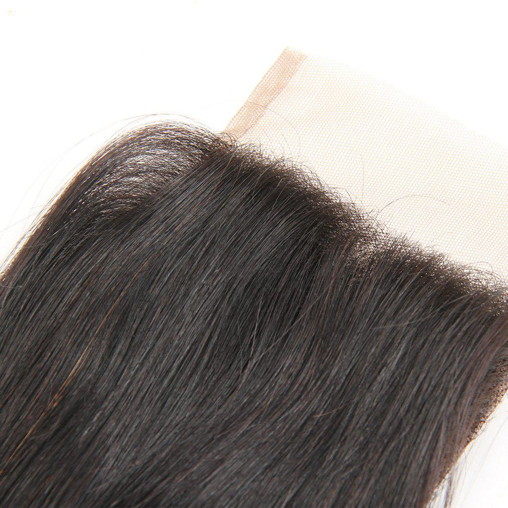 Rebecca Brazilian Remy Hair Lace Frontal Closure Nature Straight 4 x 4 Closure RC0875 - NATURAL BLACK 20INCH