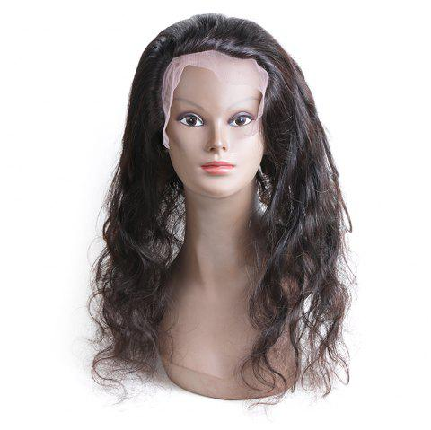 Rebecca Brazilian Remy Hair Lace Frontal Closure Nature Body Wave 360 Closure RC0804 - NATURAL BLACK 16INCH