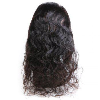 Rebecca Brazilian Remy Hair Lace Frontal Closure Nature Body Wave 360 Closure RC0804 - NATURAL BLACK 18INCH