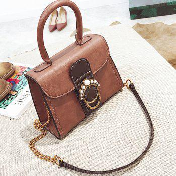 New Pearl Handbag Shoulder Messenger Kelly Bag - BROWN