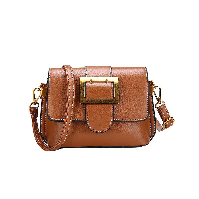 Wild Tide Messenger Shoulder Fashion Small Square Package - BROWN