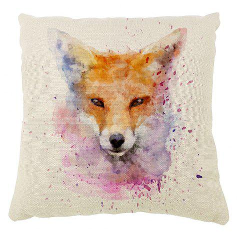 The Fox Color Ink Cotton Pillow Hold Pillow Case16inch x16inch - COLORMIX 16INCH*16INCH