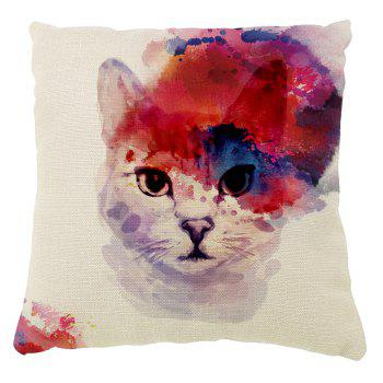 Color Inkjet Ink Meow Cushion Cover Hug Pillowcase 16inch x16inch - COLORMIX COLORMIX