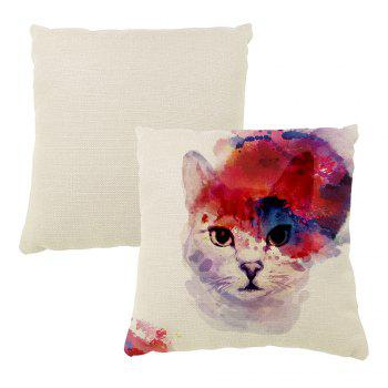 Color Inkjet Ink Meow Cushion Cover Hug Pillowcase 16inch x16inch - COLORMIX 16INCH*16INCH