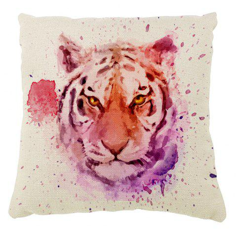 Tiger Pattern Color Ink Hand-Painted Cushion Cover With Pillowcase16inc x16inch - PALOMINO 16INCH*16INCH
