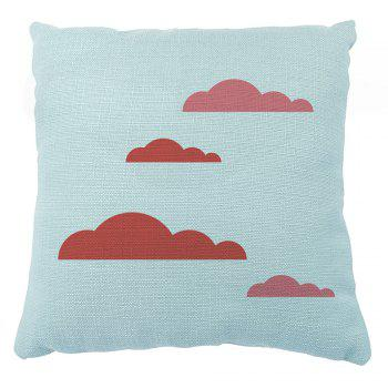 Creative City Silhouette Pillowcase 16inchx16inch - LIGHT BULE 16INCH*16INCH